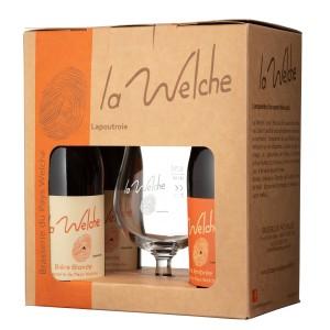Coffret Welche 4 bouteilles 33cl + 1 verre